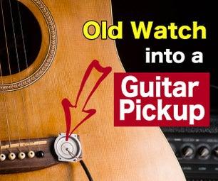 做一个吉他拾音器从一块旧手表