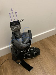 Portable Ski Boot Dryer (battery/mains)