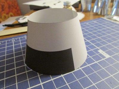 构建下一层的圆锥台
