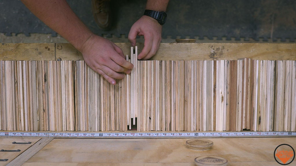 Picture of Sanding and Organizing the Pieces