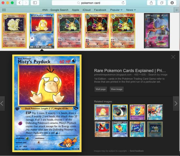 Find a Picture of a Pokemon Card