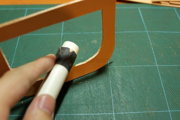 Picture of Polish the Photo Slot Edge by 1000# Sand Paper, and Bevel the Edge.