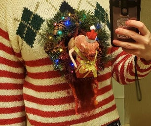 节日Chestburster丑陋的圣诞毛衣 - 动画!