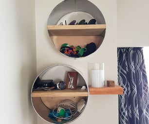 A SHELF FROM a STAINLESS STEEL BIN