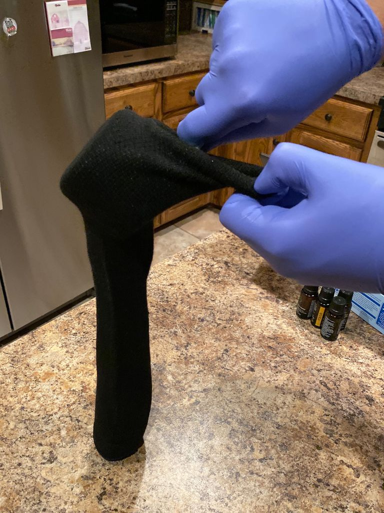 Picture of Pour Rice in Sock