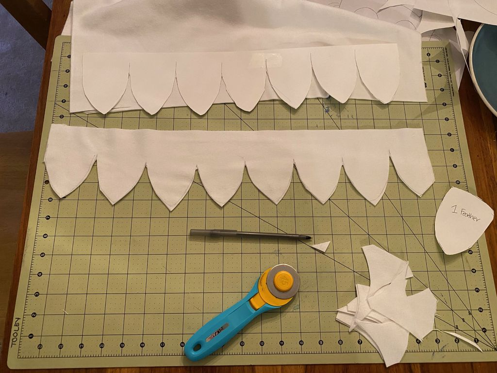 Picture of Create Template and Cut Feathers