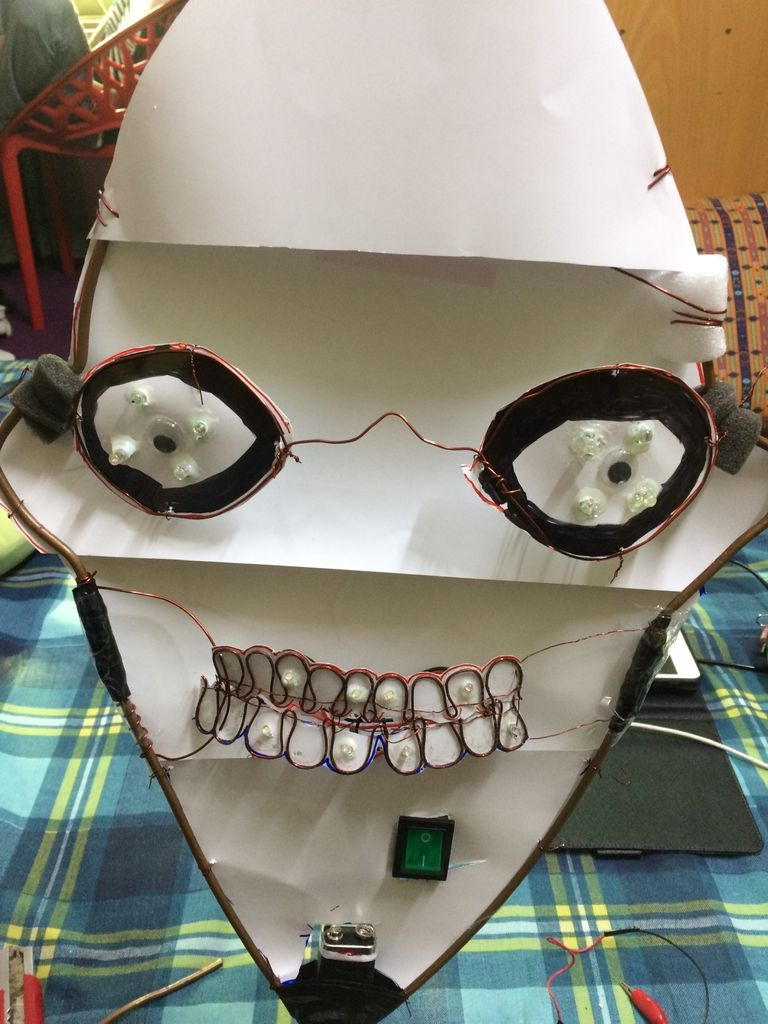 Picture of Mount the LED Teeth on the Body Frame