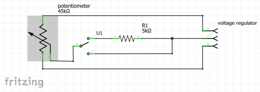 Picture of Conecting the Potentiomer (those With 45 - 47 K Ohms Potentiomer)