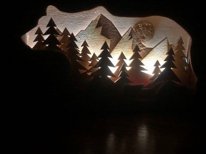 Wooden Shadow Box Nightlight