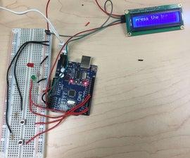 Arduino Stopwatch Using I2C LCD