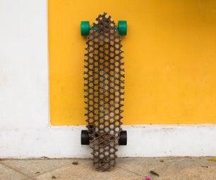 Quarter Iso-grid Cardboard Longboard