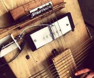 金枪鱼鱼,在熨衣板电吉他