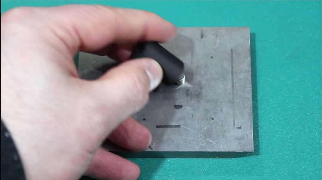 Picture of Inserting the Magnet Into the Base