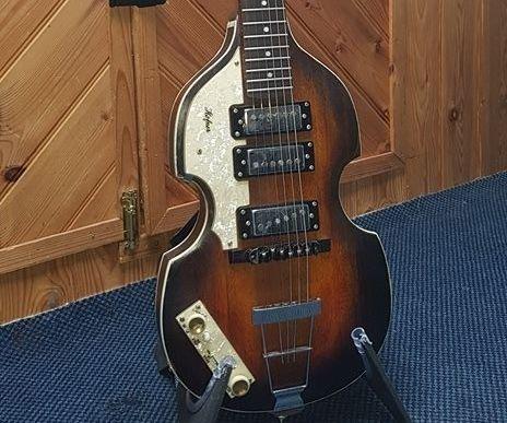 Handmade Paul McCartney Hofner Inspired Stratocaster Guitar
