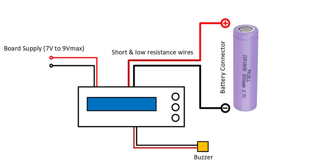 Picture of Figure 9: Wiring of the Battery Capacity Measurement Device