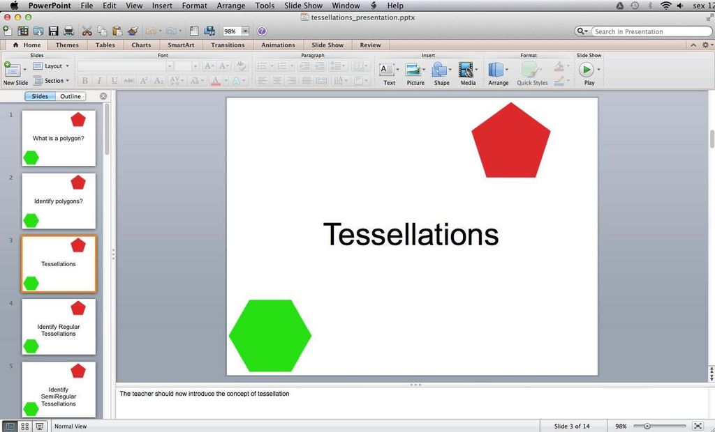 Picture of Classroom Activity - Tessellations
