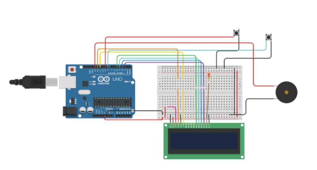 Picture of Circuit and Connections:
