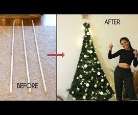 DIY节省空间的PVC管圣诞树