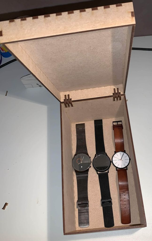 Picture of Lasercut a Hinged Box for My Watches