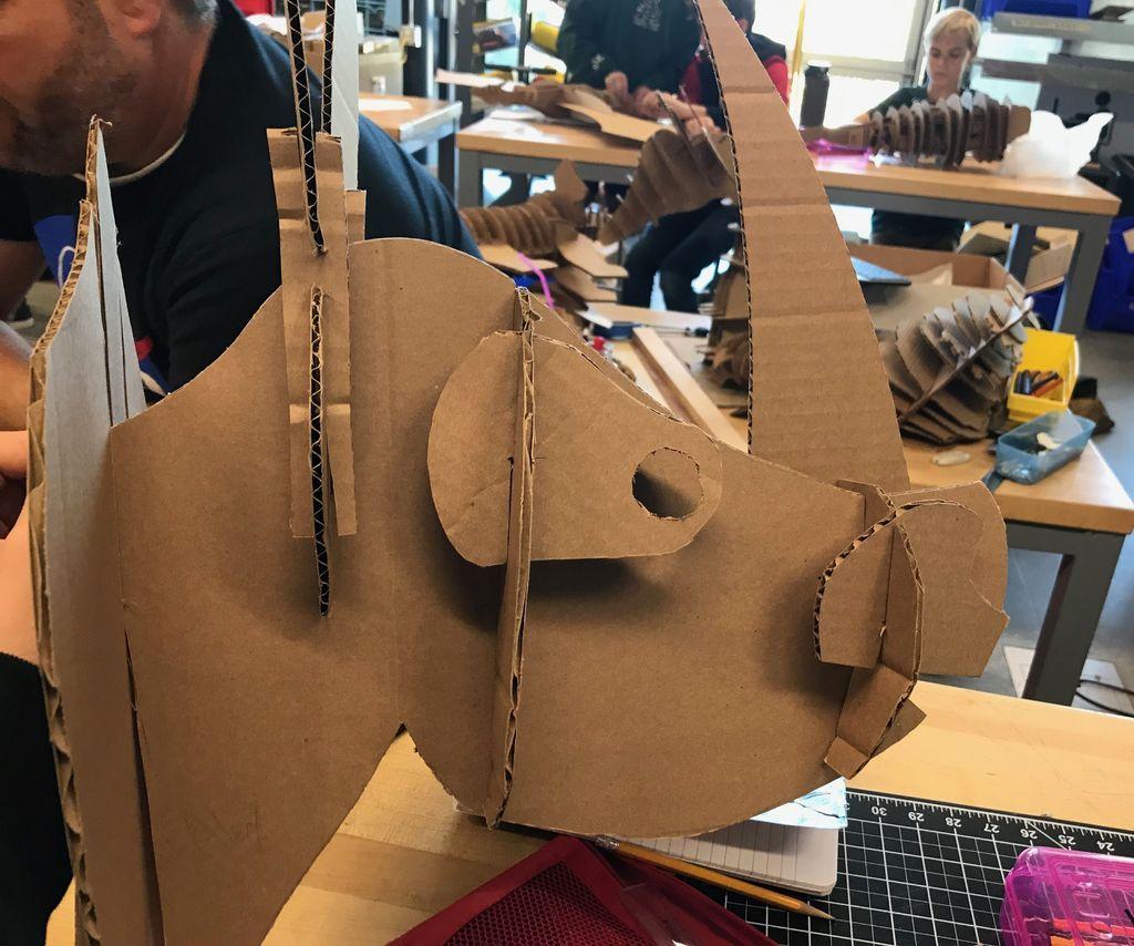 AMAZING Realistic Cardboard Rhino Head