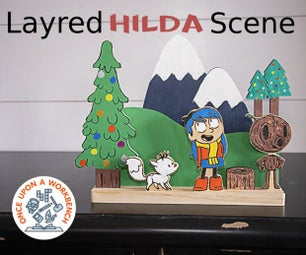 Layered Hilda Christmas Scene