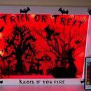 Flashing Door Halloween Shadowbox