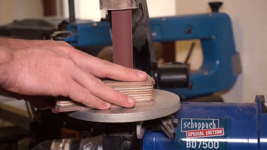 Insert Alignment Pins and Start Sanding