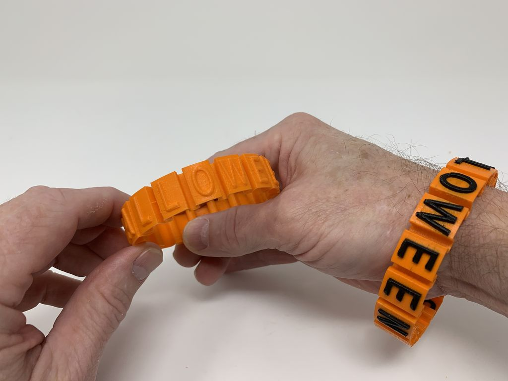 "Picture of Happy Halloween ""Somewhat Stretchy"" Bracelet."