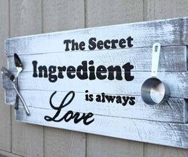 Wooden Kitchen Sign