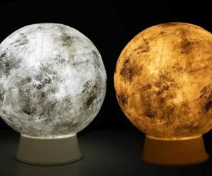 DIY Night Moon Lamp