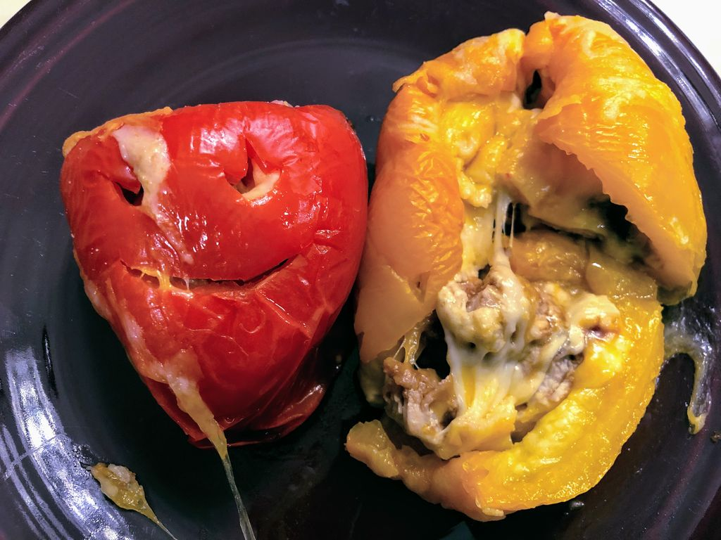 Picture of Spooky Stuffed Peppers