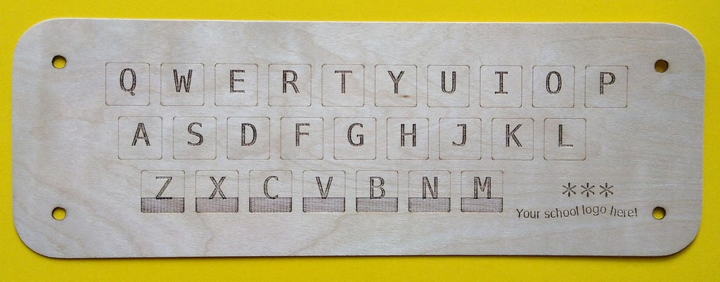Picture of Keyboard Puzzle Top From Lasercutter