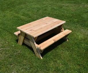 雪松儿童野餐桌