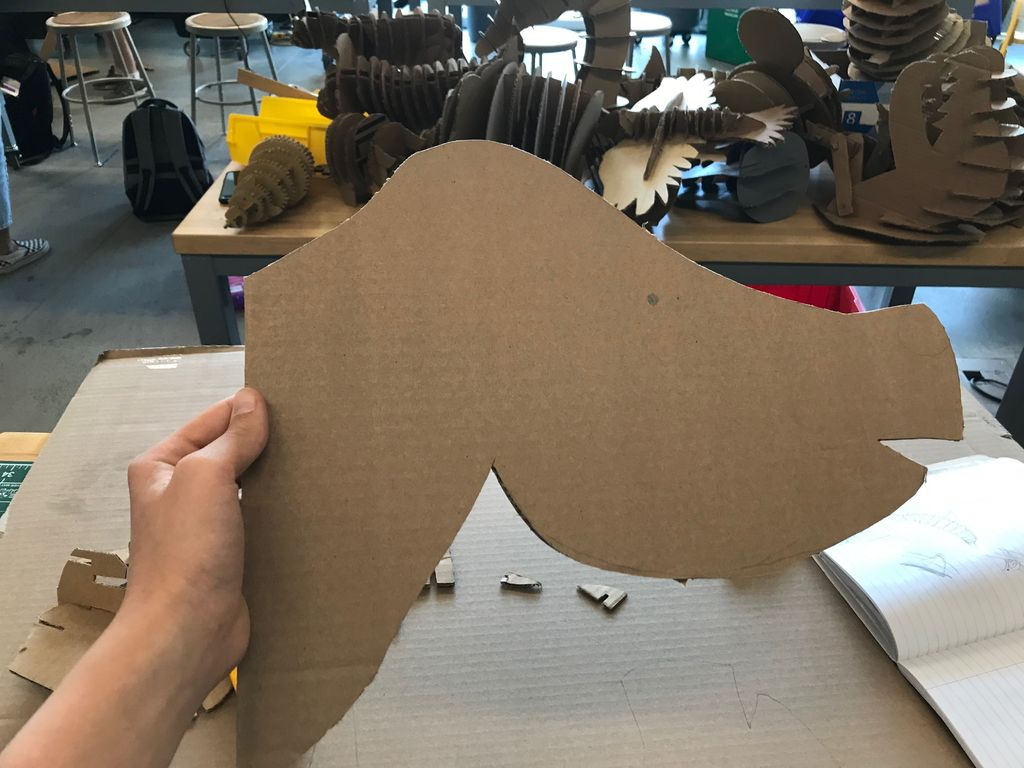 Picture of Step 1:  Cutting the Head Outline