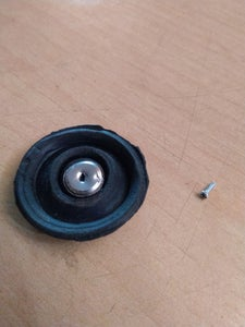Screw in the Contact Point to the Rubber.