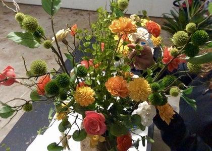 Arrange Flowers and Greenery