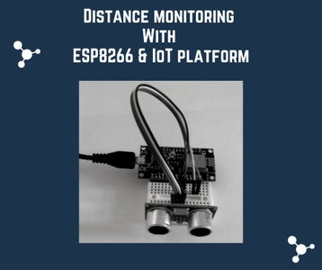 How to Monitor Ultrasonic Distance With ESP8266 and AskSensors IoT Cloud