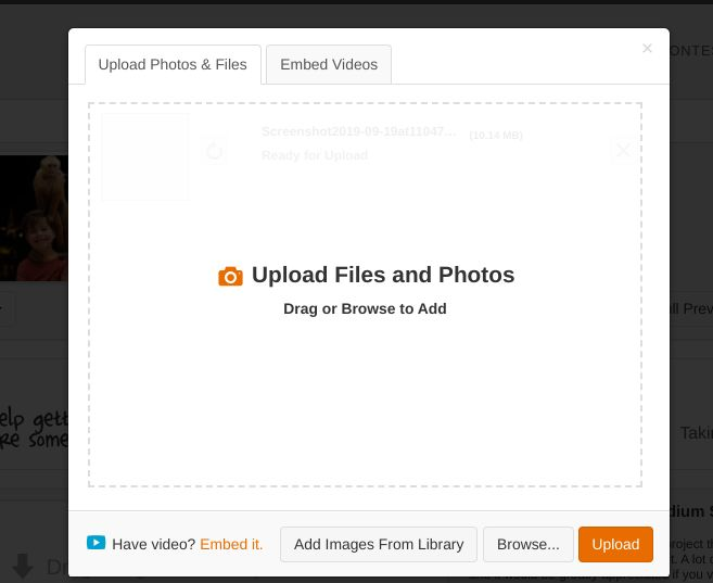 Picture of Cannot upload photos on a chromebook