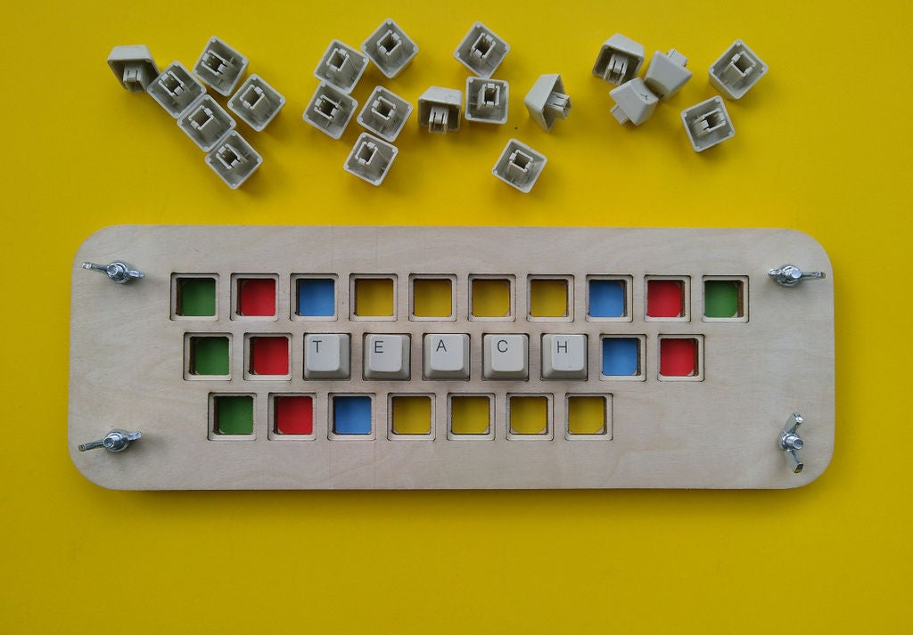 Picture of Keyboard Puzzle Behind the Scenes