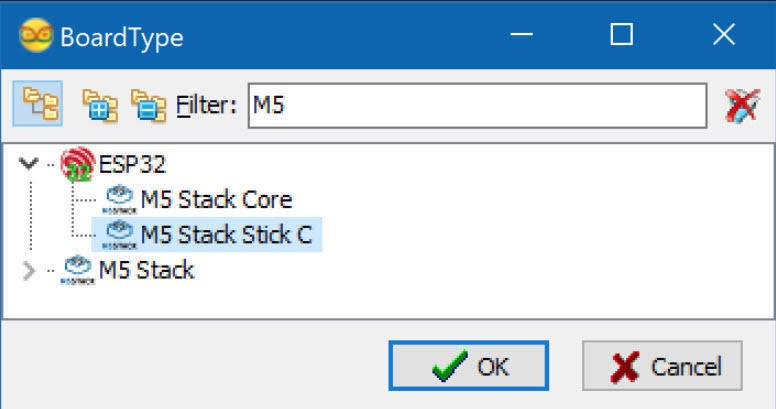Picture of Start Visuino, and Select the M5 Stack Stick C Board Type