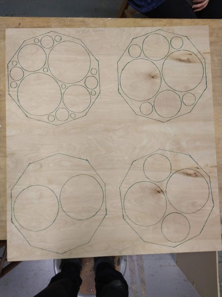 Picture of Draw and Cut Layers of Table