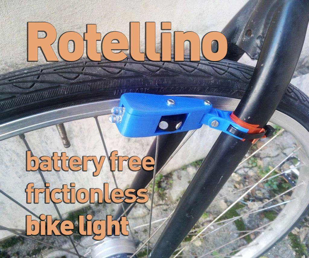 Rotellino - 3€ Battery Free Contactless Bike Light