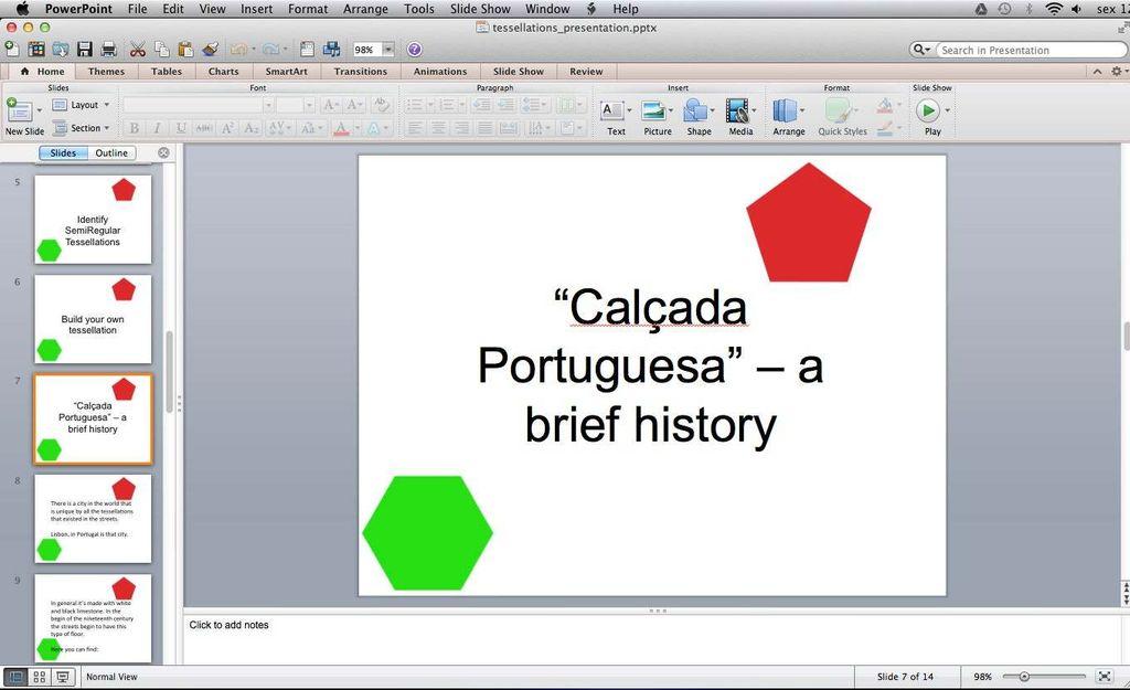 """Picture of Classroom Activity - """"Calçada Portuguesa""""  a Brief History"""
