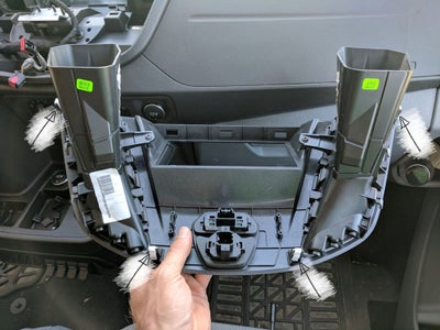 Install the 4 Plastic Panel Clips (included in the Kit) to the New Metra Dash Panel