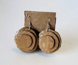 Recycled Cardboard Earrings