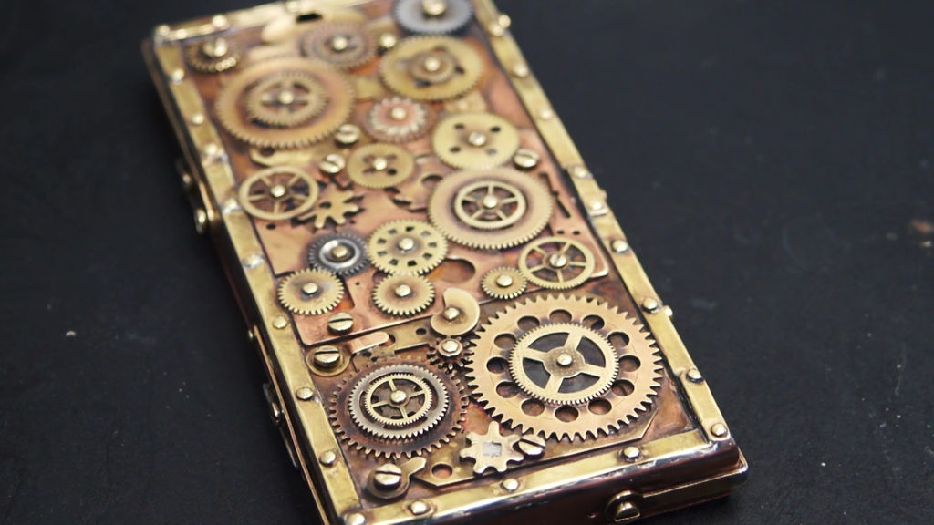 Picture of Steampunk DIY Phone Case - Copper and Brass