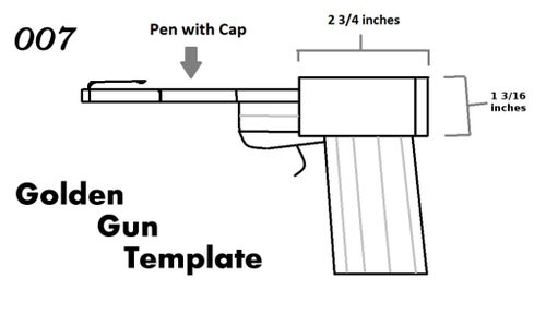 How to Make the Golden Gun From 007 (From Scrap Wood and a Pen)