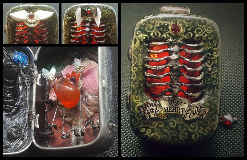 Picture of Mini Mint Tin Automaton Pendant/Brooch