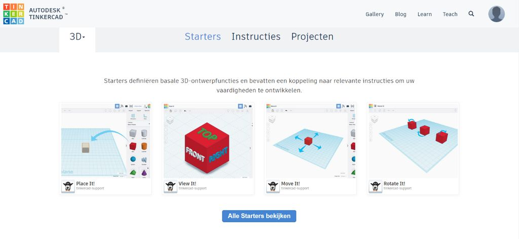 Picture of Create an Account on TinkerCAD