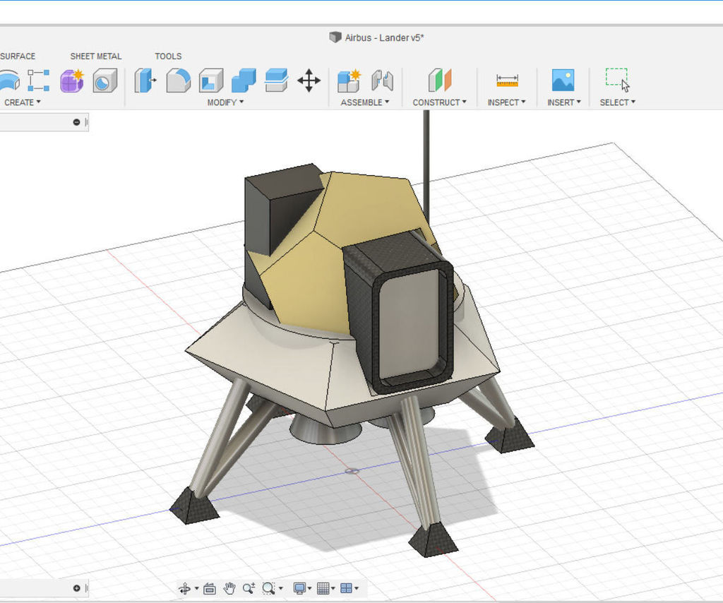 Design a Moon Lander in Fusion 360